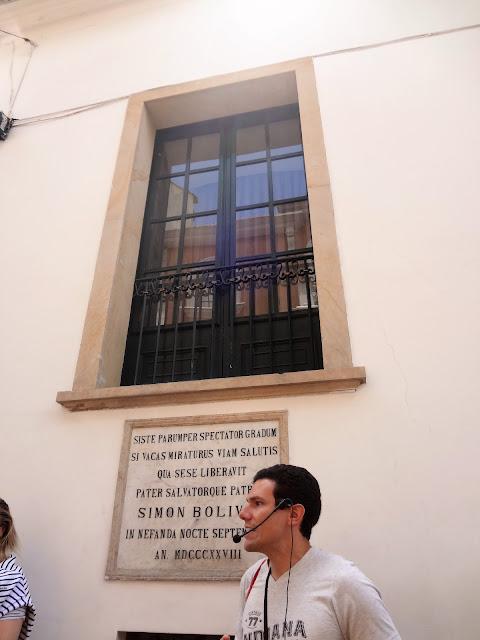 シモン・ボリバルが暗殺から逃れた窓
