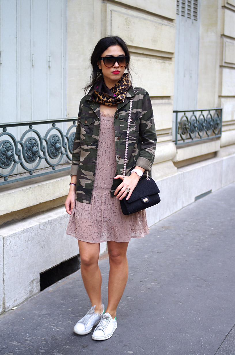 Elizabeth l Camouflage x beads outfit l Forever21 Mango Chanel l THEDEETSONE l http://thedeetsone.blogspot.fr