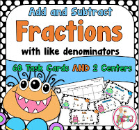 Add and Subtraction Fractions with Like Denominators