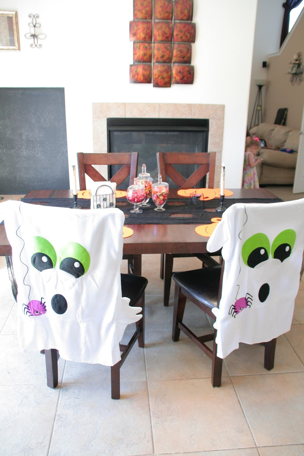 chair covers oriental trading power car carrier create a simple spooky halloween table we got the funk