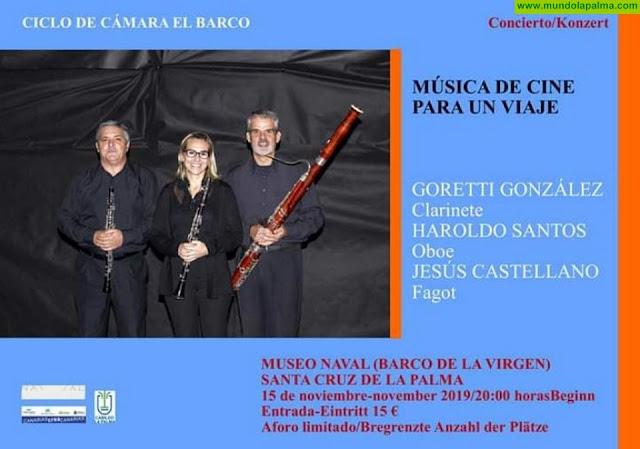 Concierto del Trío Iruene en el Museo Naval de Santa Cruz de La Palma (Barco de la Virgen)