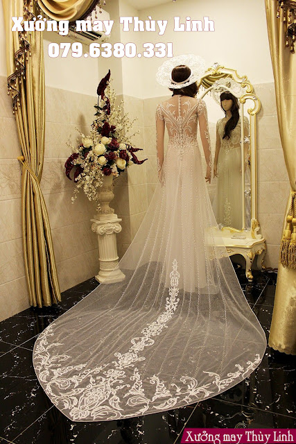 áo dài cưới cách tân