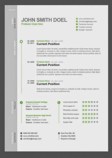 Free Resume Download Free Creative  Minimalist Resume Template - minimalist resume template