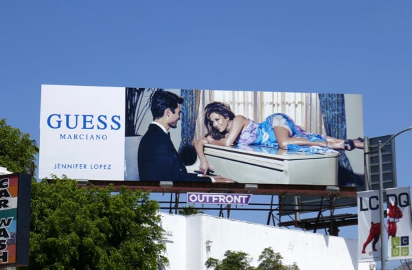 Guess Marciano Jennifer Lopez piano billboard