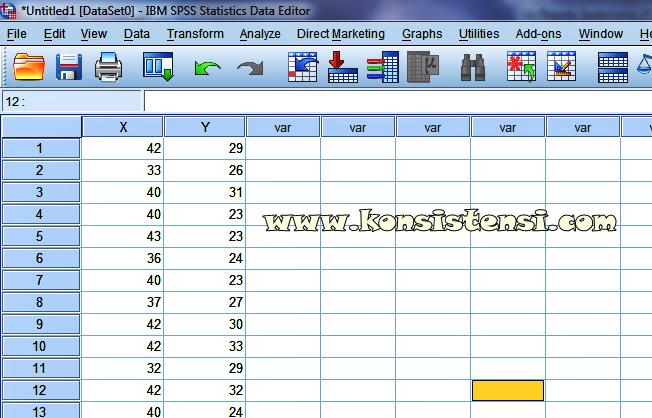 Uji Regresi Sederhana SPSS dengan Lengkap