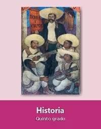 Libro de texto  Historia Quinto grado 2019-2020