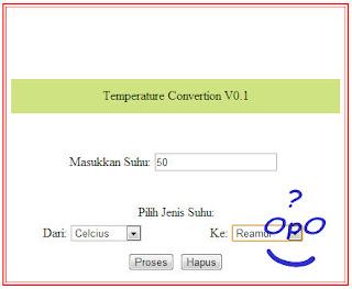 OpO ~ Membuat Konversi Suhu Sederhana Dengan PHP Dan Html
