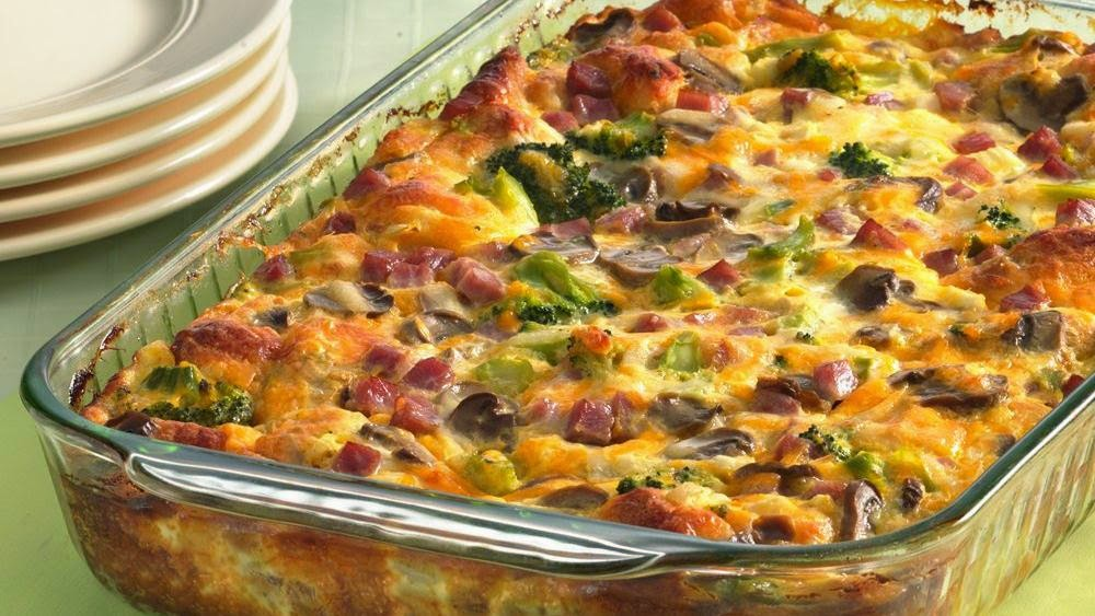 Gina's Italian Kitchen: Ham and Cheese Omelet Bake