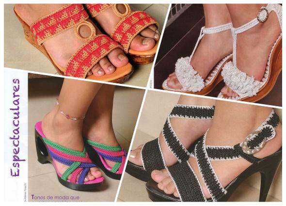 sandalias tejidas, zapatos a crochet, patrones para crochet, blogspot