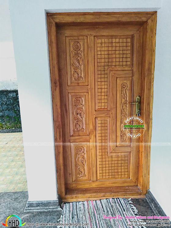 Front door design Kerala style
