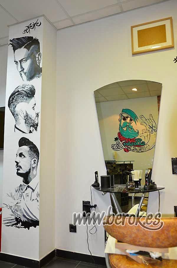 Graffiti profesional barbería peluquería Terrassa