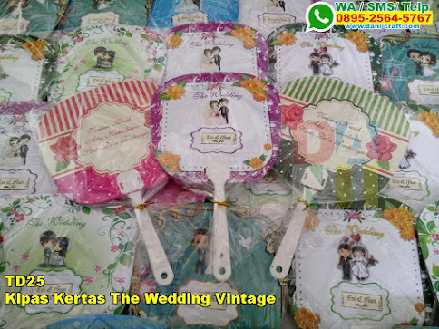 Grosir Kipas Kertas The Wedding Vintage