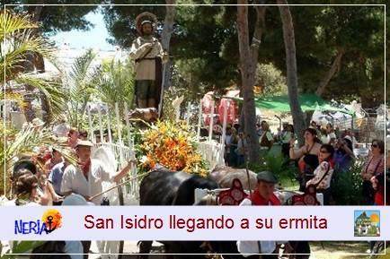 La ermita de San Isidro está edificada sobre los muros del antiguo cementerio de Maro, construido a mediados del siglo XIX. En las paredes de la ermita se conservan los restos de unos curiosos grabados de dicha época realizados, al parecer, por pastores