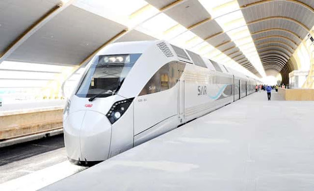 SAUDI RAILWAY TRAIN IS NOW UP TO AL JOUF CITY