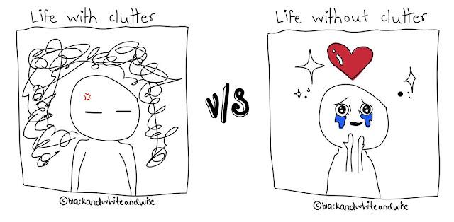 clutter vs declutter meme