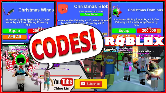 Pet Simulator How To Equip More Pets With 0 Robux Chloe Tuber Roblox Mining Simulator Gameplay New Christmas World Quests Pets And More 5 New Codes
