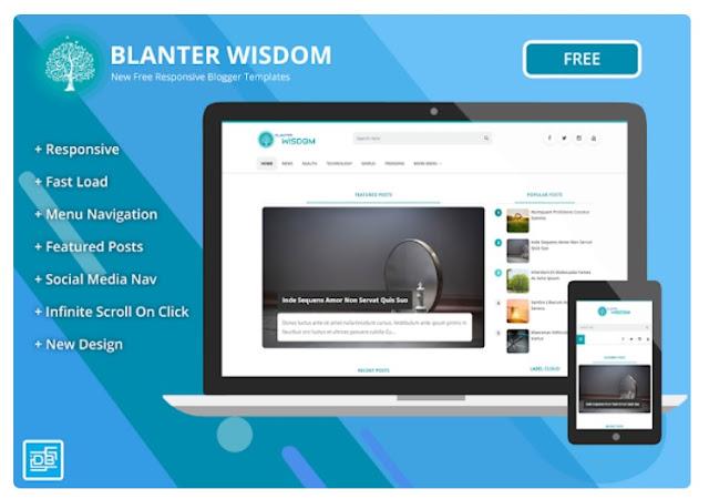 Download Template BlOgger SEO Blanter Wisdom Terbaru 2019