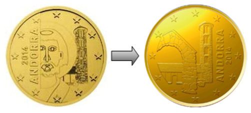 Andorra monedas de euro