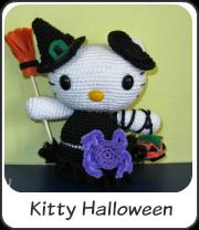 Amigurumi hello Kitty de Halloween