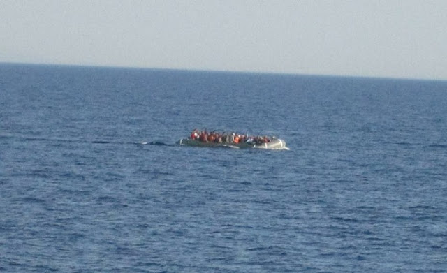 Albanian ship Oriku rescues 56 Syrian immigrants in the Aegean Sea, 18 of them children