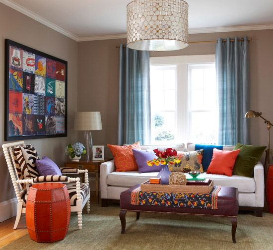 2013 Neutral Living Room Decorating Ideas From Bhg: Modern Furniture: 2013 Contemporary Living Room Decorating