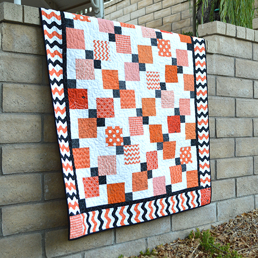 Halloween Disappearing 9-Patch Quilt Free Tutorial Designed By Amanda, aka Jedi Craft Girl.