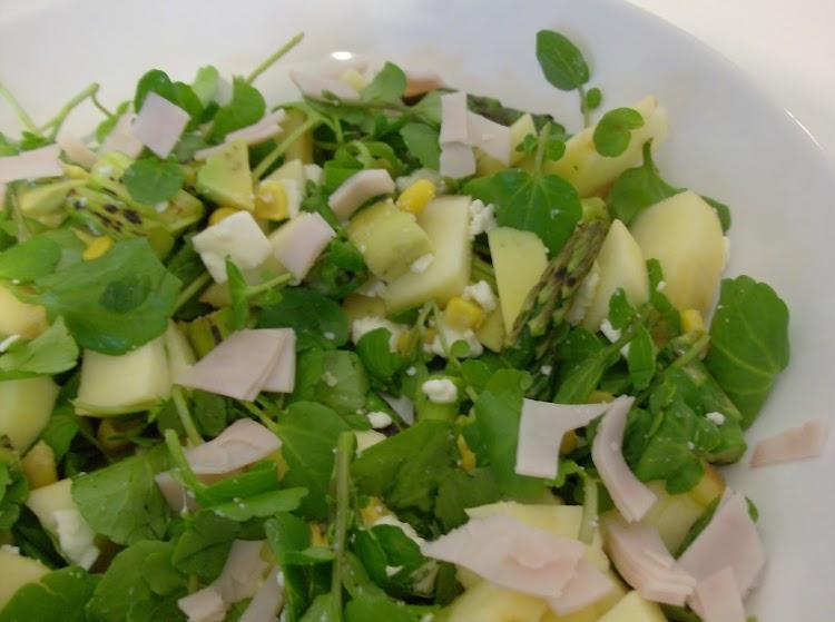Salada de Agrião, Maçã e Espargos