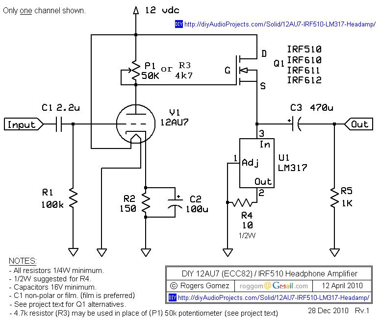 Au Irf Headphone Amp Schematic on Treble Booster Guitar Schematics