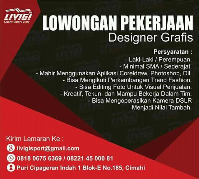 Lowongan Kerj Designer Grafis di Cimahi
