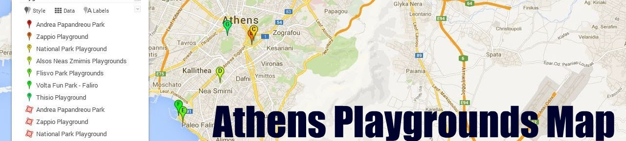 Athens Playgrounds Map