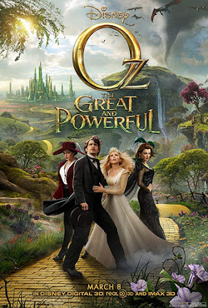 Poster Of Oz the Great and Powerful In Dual Audio Hindi English 300MB Compressed Small Size Pc Movie Free Download Only At worldfree4u.com