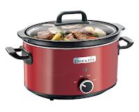 Slow cooker Crock Pot SCV400RD 050  3 5 l  2 Setari gatit  Functie pastrare la cald  Vas de ceramica detasabil  Rosu   eMAG ro