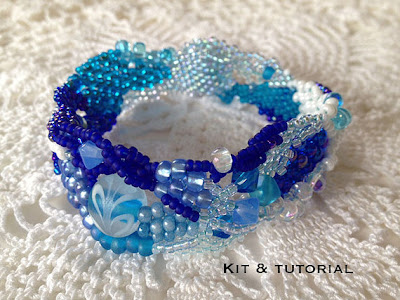 Ocean Currents, a Freeform Peyote Bracelet kit by Karen Williams