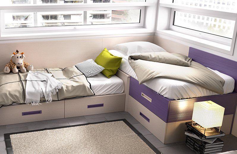 Blog dormitorios juveniles com cu nto espacio necesito for Camas en l juveniles
