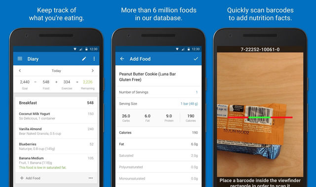 5 best food tracker and calorie counter app for android - Application android cuisine ...