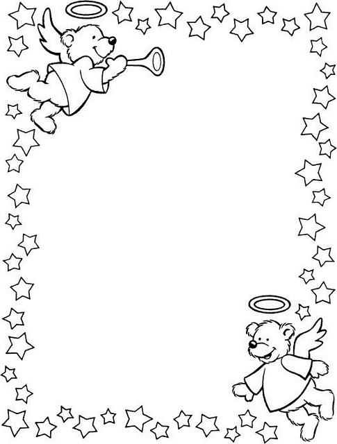 Marcos y bordes de navidad para colorear - Imagui