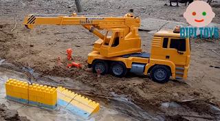 Dump Truck Toys for Children Garbage Truck + Dump Truck Excavator Kids toys