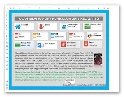 Aplikasi Olah Raport K-13 SD Kelas Bawah