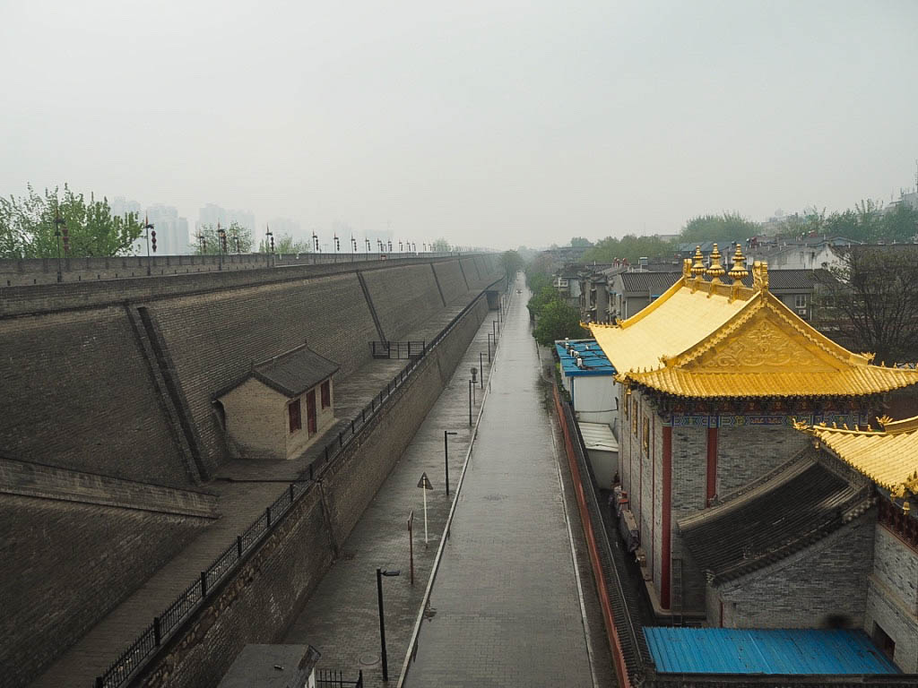 Guangren Lama temple and Xi'an city walls