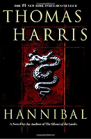 Hannibal by Thomas Harris, Dr. Lecter, suspense and thriller, mystery, winter reading list, serial killer