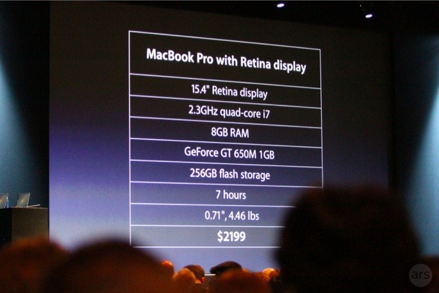 MacBook Air And MacBook Pro Upgrades On WWDC 2012