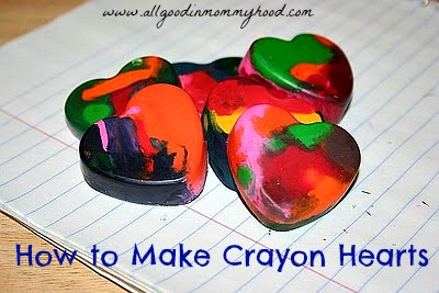 Valentine Fun Crayon Hearts