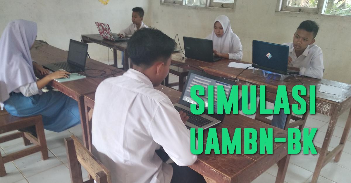 Pelaksanaan Simulasi 2 UAMBN-BK 2019 Hari Pertama Di MTs Nurul Huda Rokan Hulu