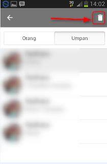 Cara membuka blokir feed teman di BBM android