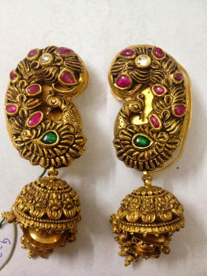 Antique Peacock Earrings Jewellery Designs