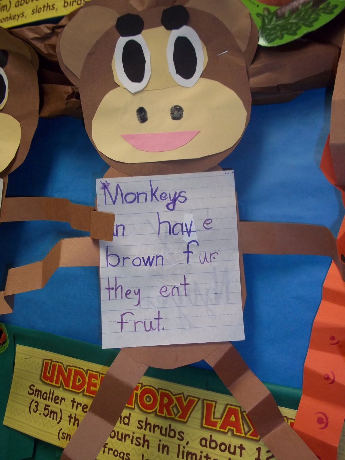 Mrs Wood S Kindergarten Class Monkey Writing