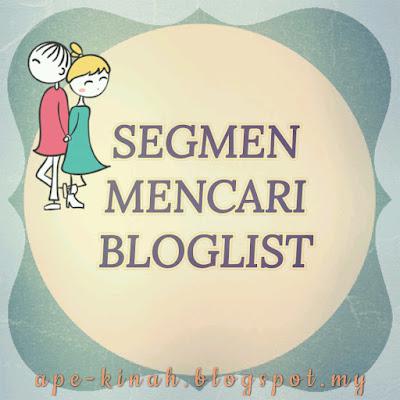 BLOGLIST, cara gabungkan widget bloglist, cara letak bloglist di blog, Segmen bloglist, cara mudah naikkan trafik blog, CARA MUDAH BLOGWALKING,