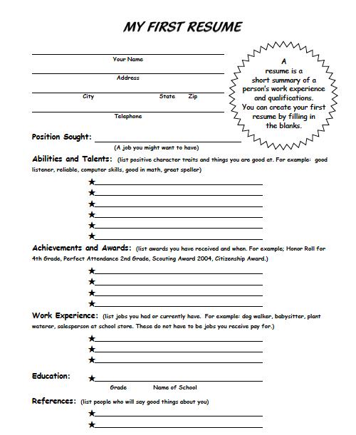Printables Resume Worksheet For High School Students resume worksheet examples for first grade teachers document enclosure letter high school student worksheet