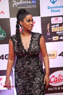 Actress Mumaith Khan Pictures in Black Dress at Mirchi Music Awards South 2015 0087