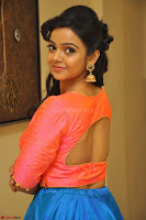 Nithya Shetty in Orange Choli at Kalamandir Foundation 7th anniversary Celebrations ~  Actress Galleries 065.JPG